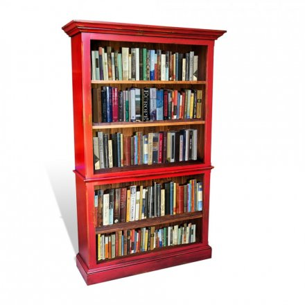 A101 Antique Red Bookcase