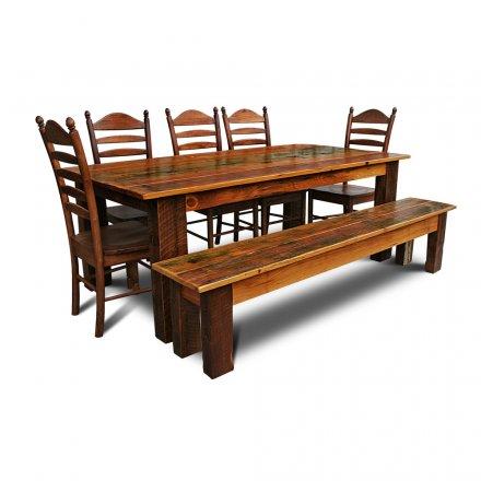 Barnwood 4x6 Table w Bench