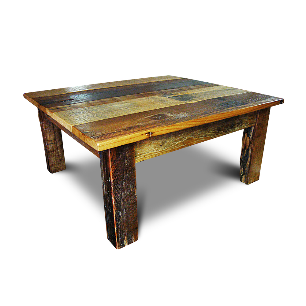 Barnwood Beam Leg Coffee Table No 2