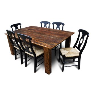 Barnwood Beam Leg Table