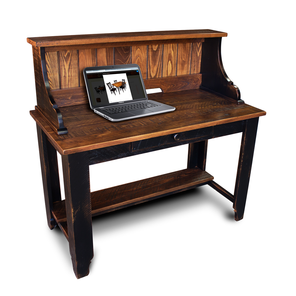 classique desk w shelf top no 2. Black Bedroom Furniture Sets. Home Design Ideas