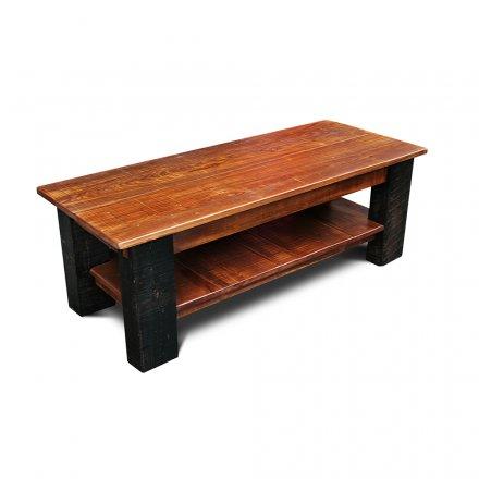 Rustic Coffee Table w Barnwood Beam Legs