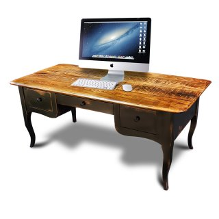 Creole Desk w Black Base