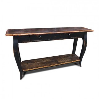 French Sofa Table w/ Barnwood Top