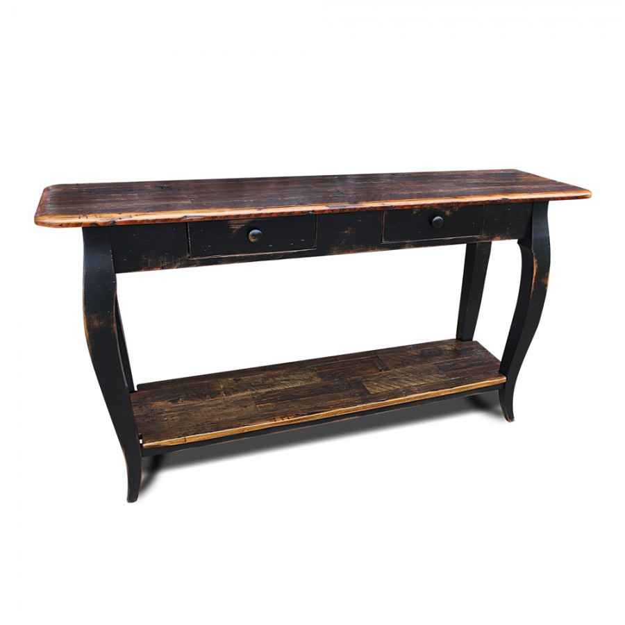 French Sofa Table w Barnwood Top : French Sofa Table from allwoodcompany.com size 900 x 900 jpeg 65kB