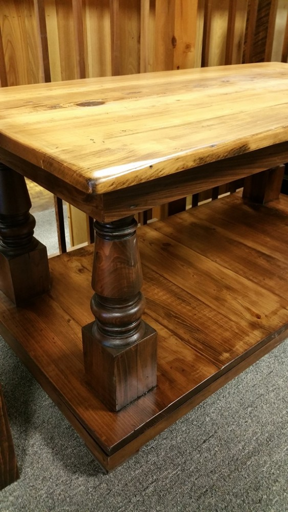 All Wood Coffee Tables ~ Turned post coffee table ul store r sold all wood