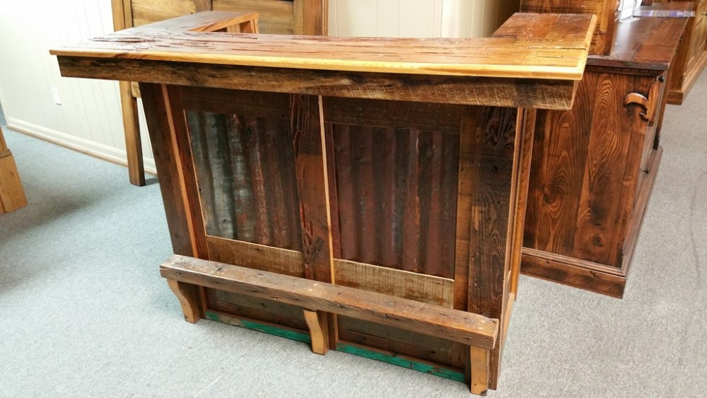Barnwood Bar With Tin Pinhook PH 75 SOLD ALL Wood