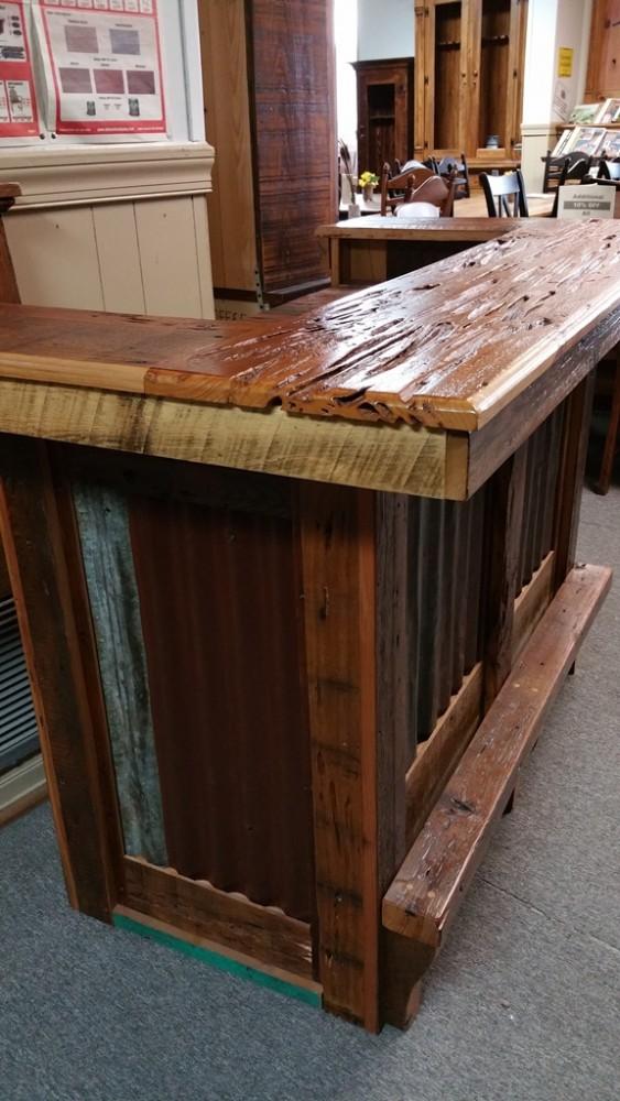 Barnwood Bar With Tin Pinhook Ph 75 Sold All Wood