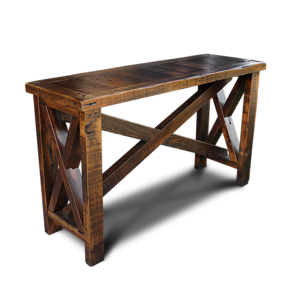 Barnwood xx sofa table