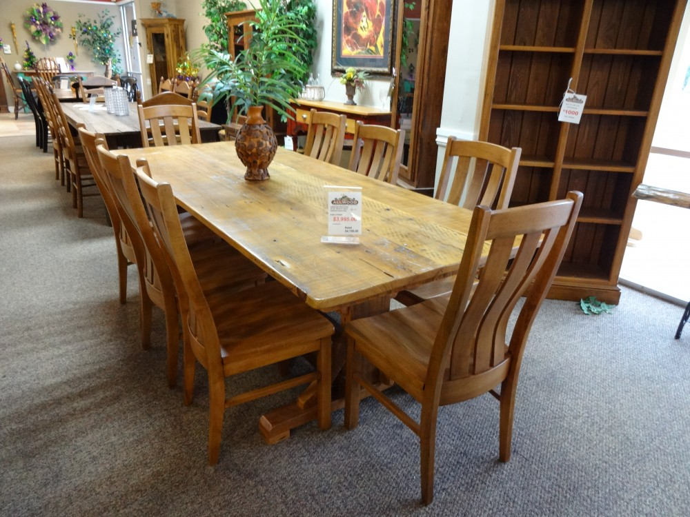 8 39 Trestle Table Baton Rouge Br 45 Sold All Wood Furniture