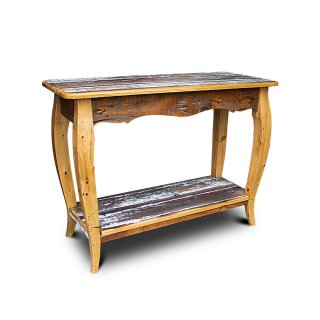 French Sofa Table in Barnwood