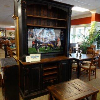 Fluer De Lis TV Stand @ Baton Rouge BR-68 In Stock