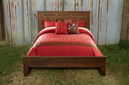 Rustic Shaker Raised Panel Bed Coffee