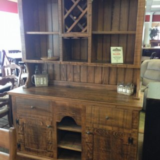 2 Piece Rustic Hutch & Buffet @ Baton Rouge BR-78 In Stock