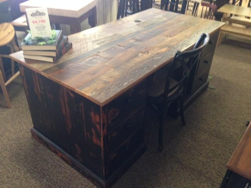 Barnwood Desk Baton Rouge Br 94 Sold All Wood Furniture