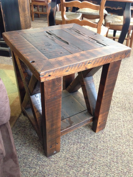 Dark Aged X End Table Baton Rouge Br 115 Sold All Wood