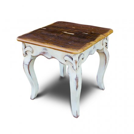 Fleur De Lis Coffee Table w Barnwood Top