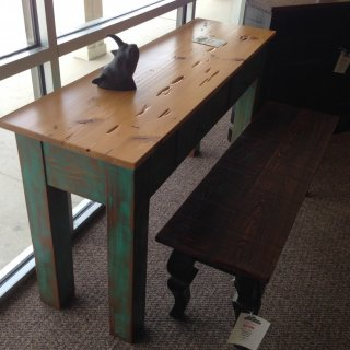 Pecky Sofa Table @ Baton Rouge BR-154 In Stock