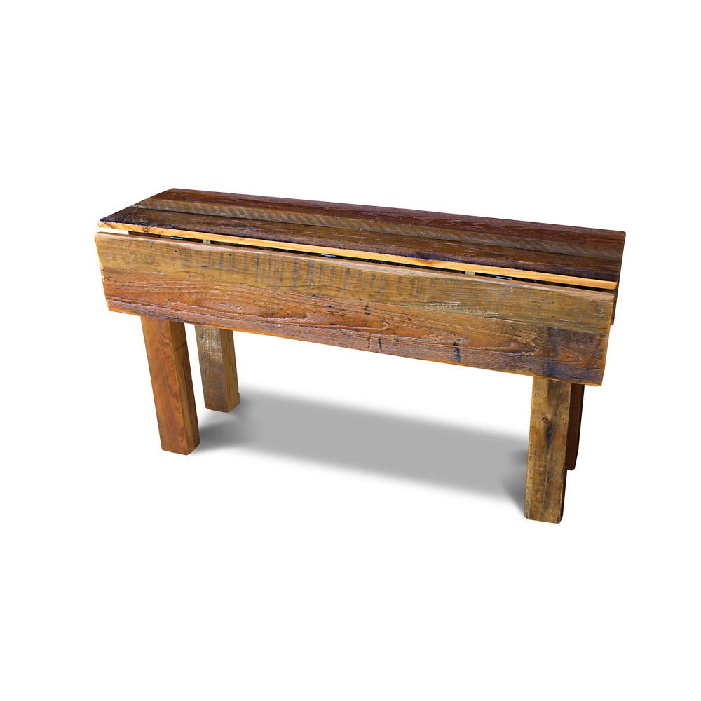 Barnwood Drop Leaf Table