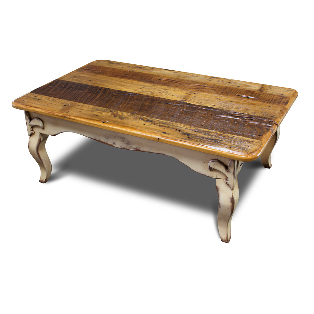 fleur de lis coffee table w barnwood top no 2. Black Bedroom Furniture Sets. Home Design Ideas
