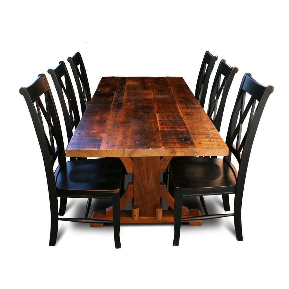 cajun timber frame barnwood table