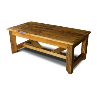 Industrial Timber Coffee Table Large