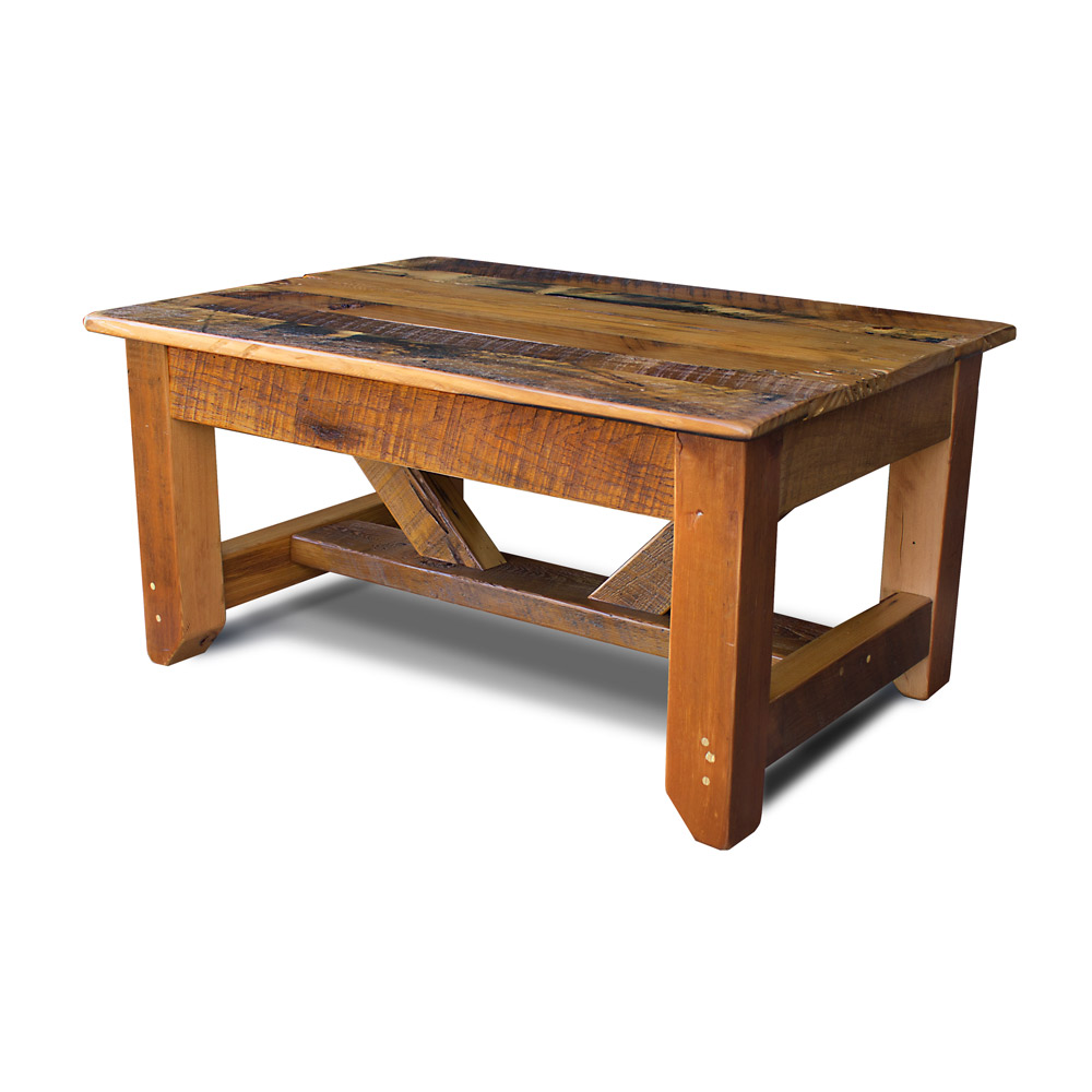 Industrial timber coffee table for Coffee tables industrial