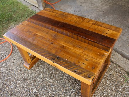 Vintage X Coffee Table in Barnwood