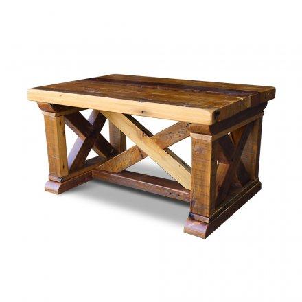 Vintage X Coffee Table in Barnwood