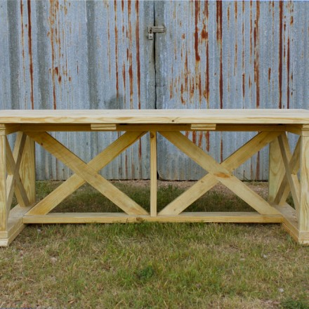 Vintage X Pine Outdoor Table