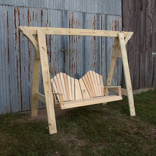 Swings Adirondack bed frame