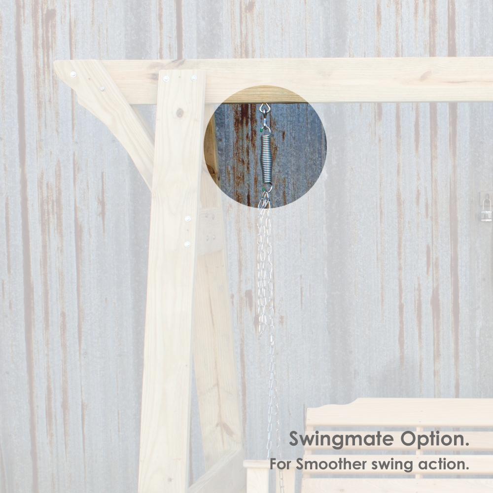 Treated Pine Arbor w Console Swing