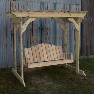 Treated Pine Arbor w Creole Swing
