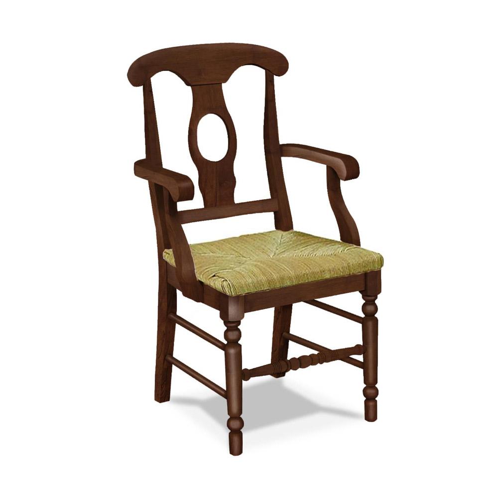 Empire Arm Chair w Rush Seat C-1200AB