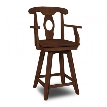 Empire Swivel Arm Stool