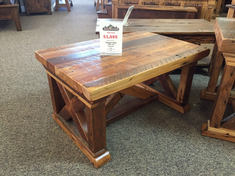 Vintage X Coffee Table Baton Rouge Br 177 Sold All Wood Furniture