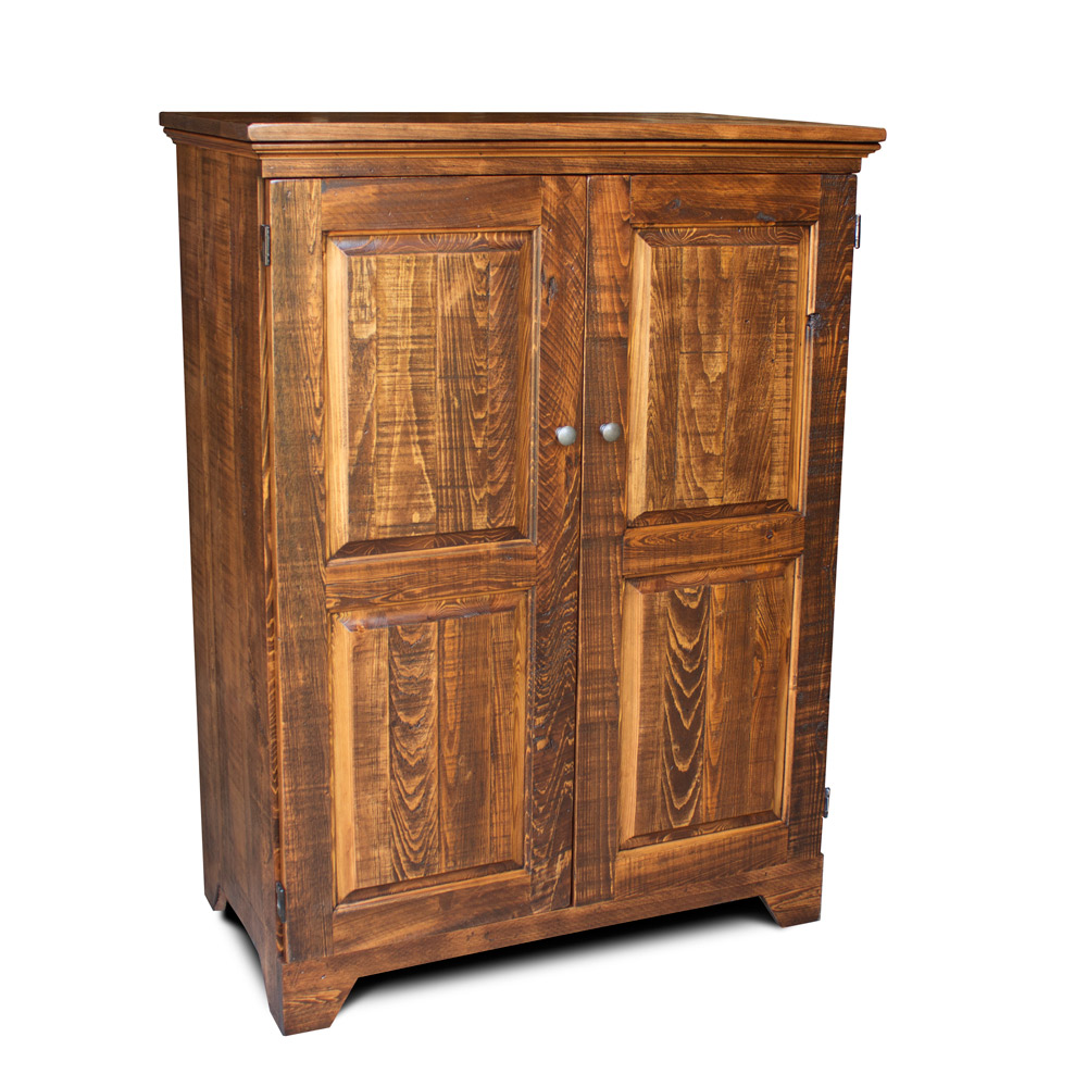 rustic shaker computer armoire. Black Bedroom Furniture Sets. Home Design Ideas