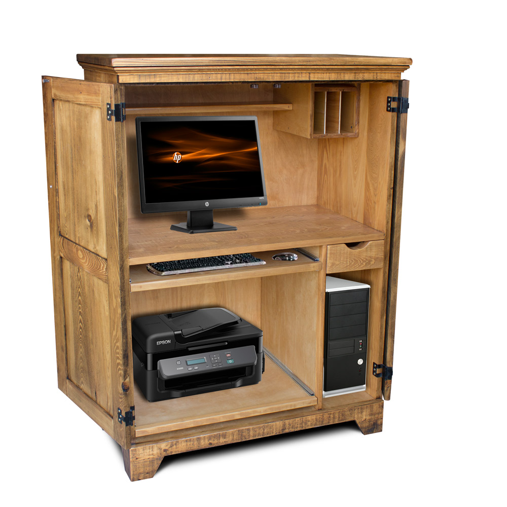 Rustic Shaker Computer Armoire