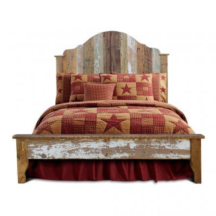 Vintage Gustavian Barnwood Bed