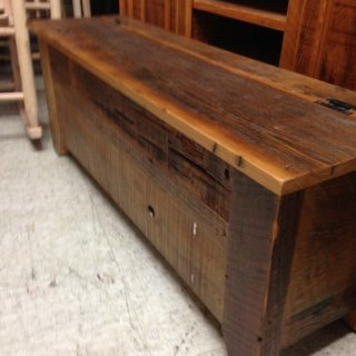 Barnwood Acadiana Storage Bench @ Pinhook PH-80 In Stock