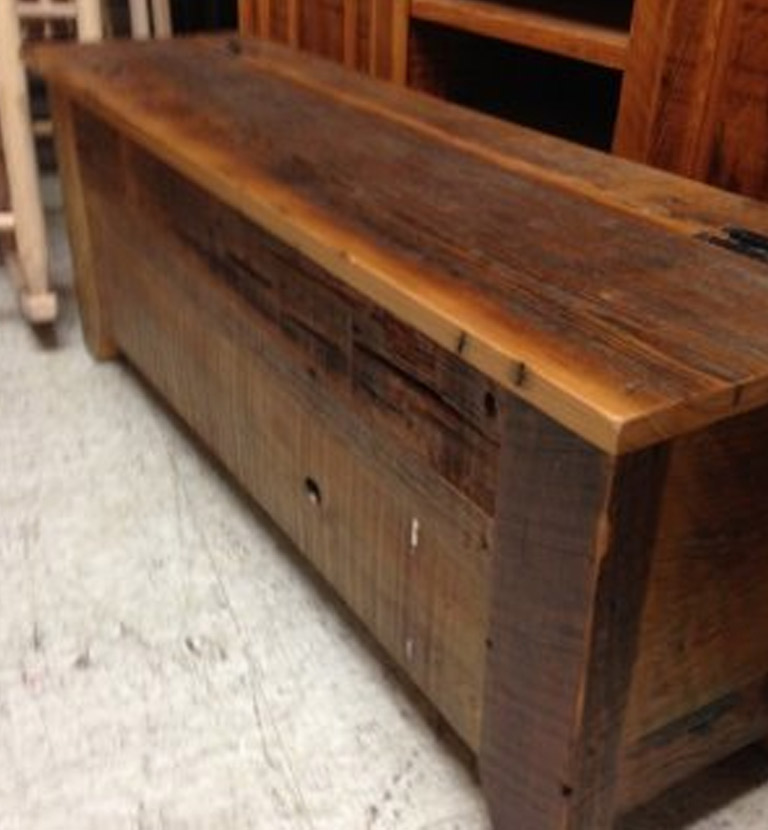 Pleasant Barnwood Acadiana Storage Bench Pinhook Sold Ph 80 All Gmtry Best Dining Table And Chair Ideas Images Gmtryco