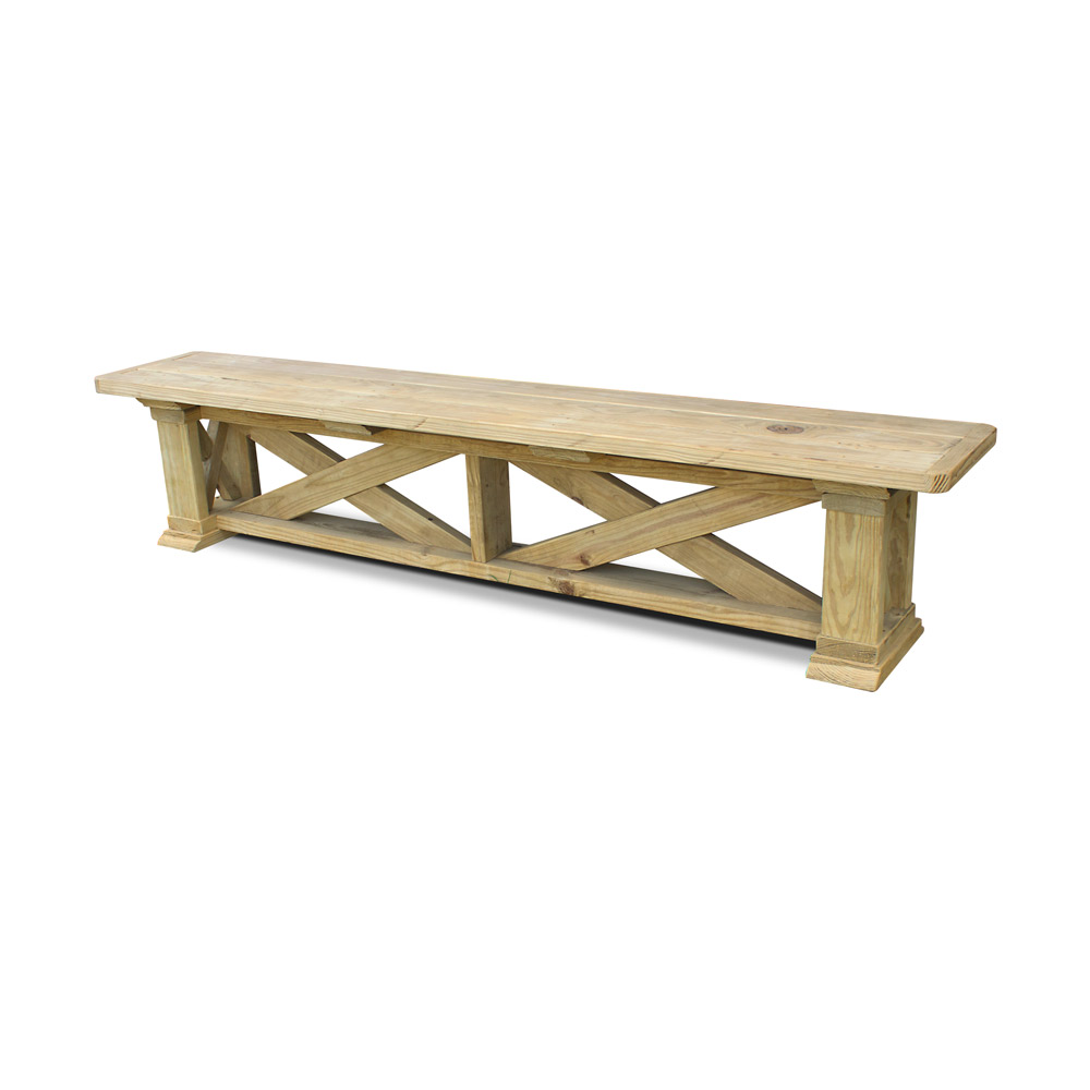 Vintage X Pine Outdoor Benches