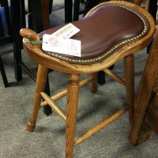 Amish Saddle Stool @ UL Store UL-69 SOLD