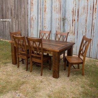 Exceptionnel Barnwood Beam Leg Barn Door Table