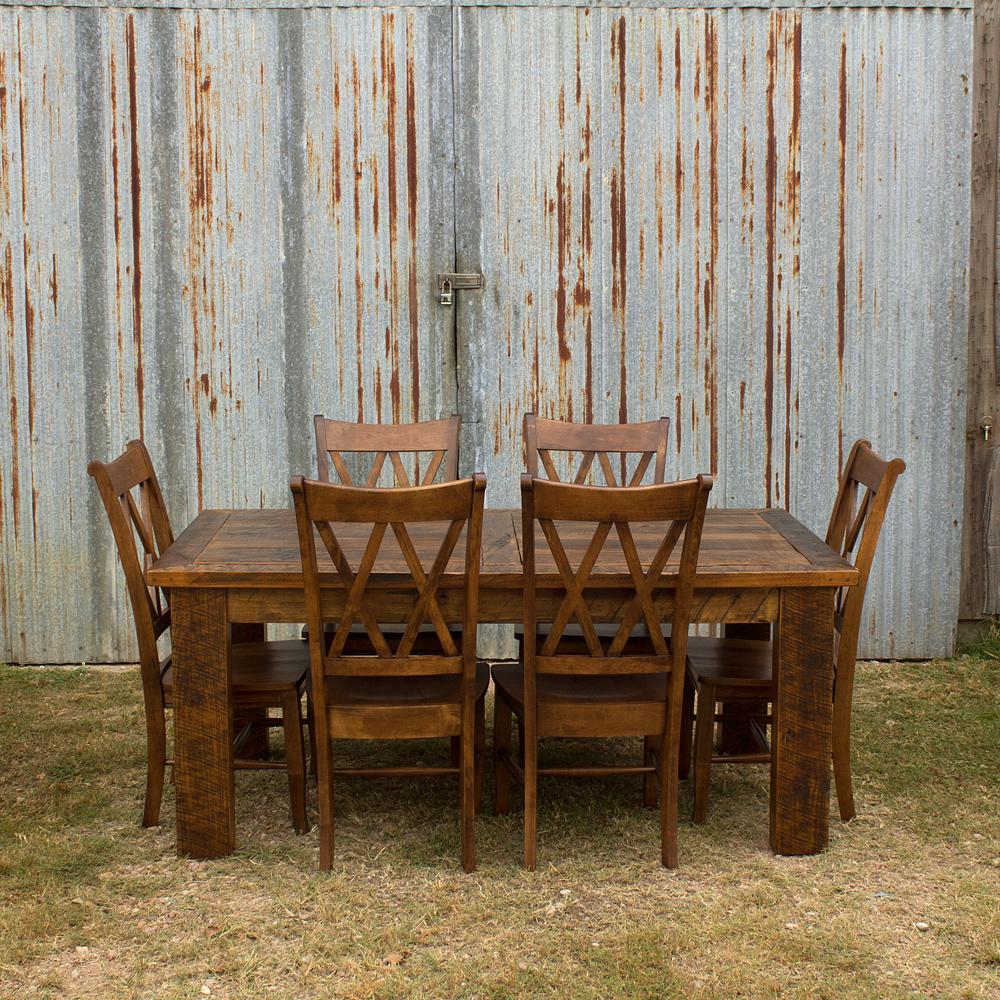 Barnwood Beam Leg Barn Door Table
