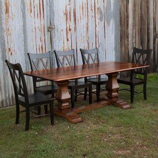 Farmhouse Pedestal Base Table