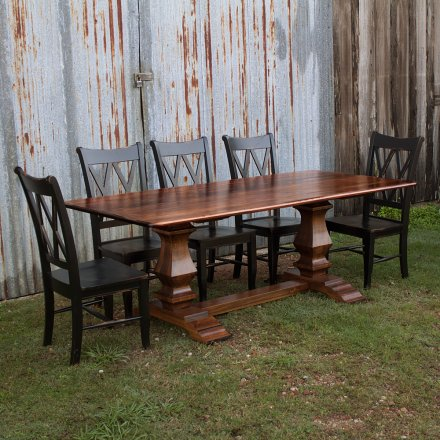 Farmhouse Pedestal Base Table