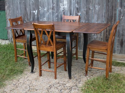 French Pub Table w Company Boards