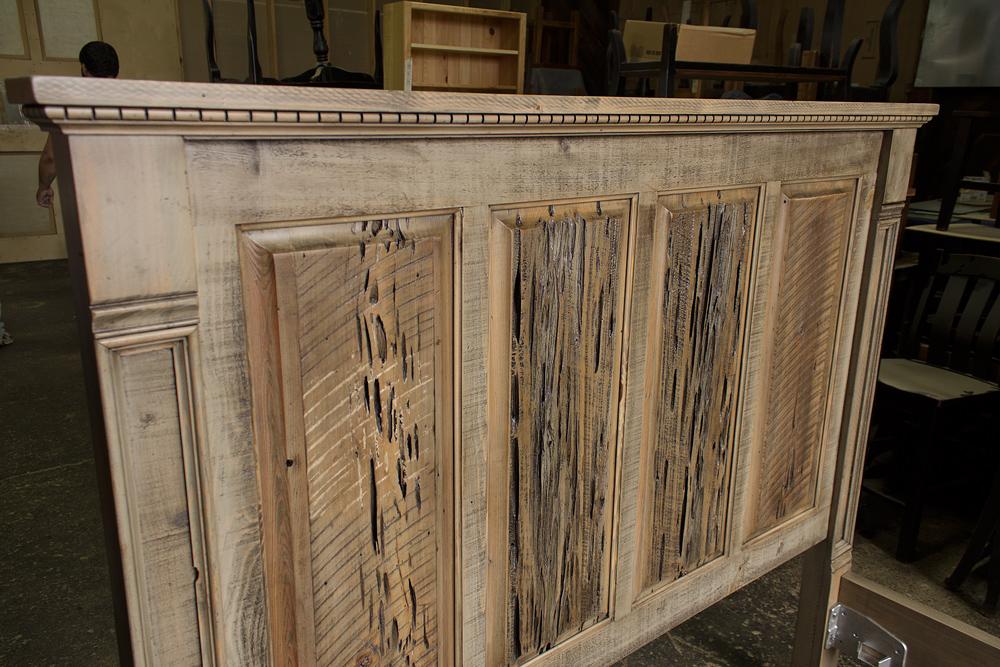 Rustic Empire Bed W Barnwood Pecky Panels Rod 1