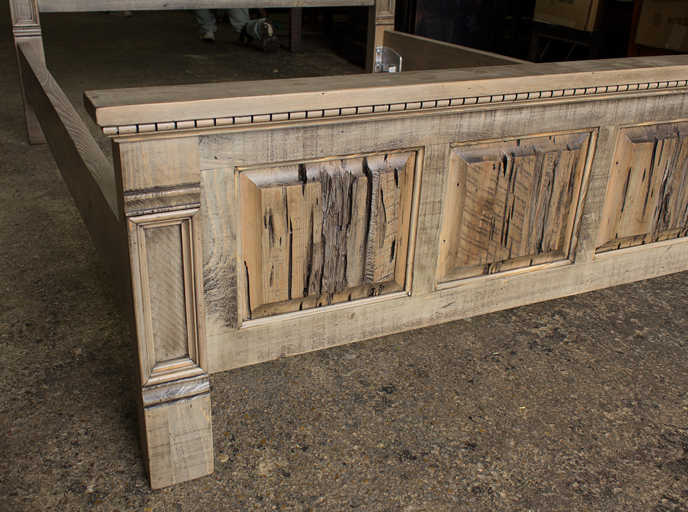 Rustic Empire Bed W Barnwood Pecky Panels Rod 1